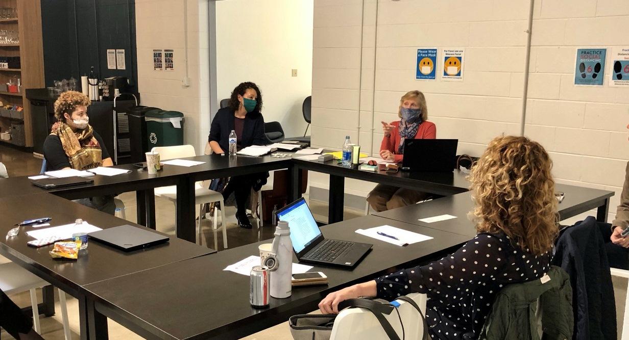 IPA's GIFT team meets at Hamilton County Community Foundation's new collaboration hub