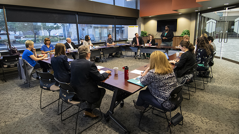 IPA CEO Claudia Cummings leads a discussion of regional philanthropists. Photo by: Mike Rhodes